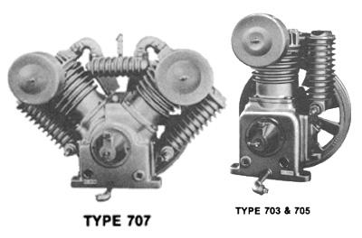 saylor beall air compressors models 703 705 and 707 pumps saylor beall