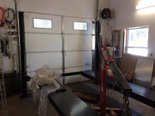 Titan SDPL-7000XLT 4 post lift assembly at NH garage