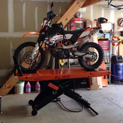 street bike on pro 1200 lift table shorter pattern joe buccino