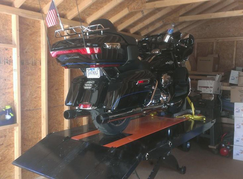 2014 Harley Davidson Limited on PRO 1200 motorcycle lift