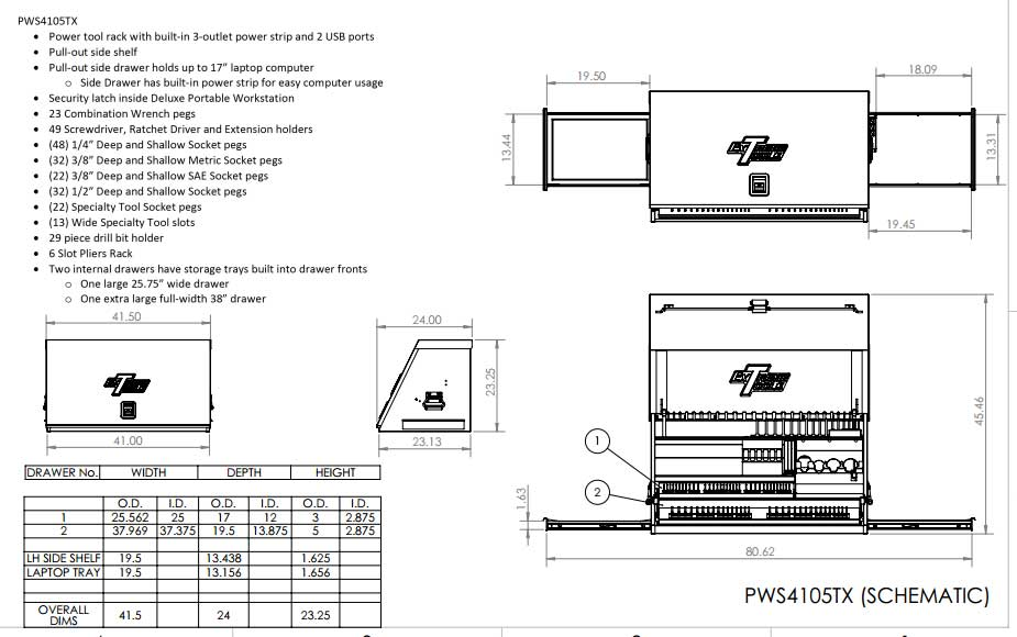PWS4105 Toolbox Schematic
