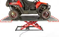 2000E utv lift accessory front rear ext