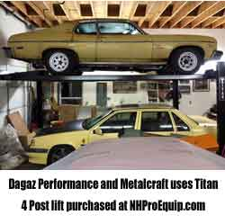 Dagaz Performance in NH uses their Titan Automotive lift