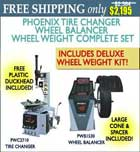 Phoenix Tire Balancer and Changer with Wheel Weight Kit