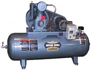 Picture of SAYLOR-BEALL 745-80H TANK MOUNTED HORIZONTAL AIR COMPRESSOR