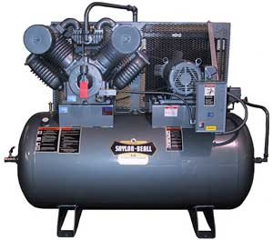 Picture of SAYLOR-BEALL 93024 TANK MOUNTED HORIZONTAL AIR COMPRESSOR