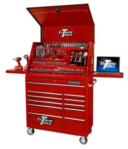 "Picture of EXTREME PWS4129RCTX 41"" DELUXE EXTREME PORTABLE WORKSTATION AND 11 DRAWER 24"" DEEP ROLLER CABINET"