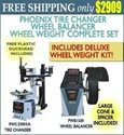 Picture of PHOENIX PWB1530A/PWC2950A TIRE CHANGER WHEEL BALANCER COMBO w/DELUXE WHEEL WEIGHT KIT