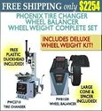 Picture of PHOENIX PWB1530A/PWC2710 TIRE CHANGER WHEEL BALANCER COMBO w/DELUXE WHEEL WEIGHT KIT