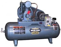 Picture of SAYLOR-BEALL 735-80H HORIZONTAL AIR COMPRESSOR TANK MOUNTED SINGLE PHASE