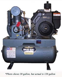 Picture of 25 HP 120 gal Gasoline Engine Driven Air Compressor Saylor-Beall 452512GC