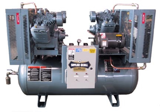 Picture of 3 Phase Duplex Air Compressor Saylor-Beall X-745-120