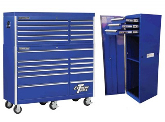 "Picture of EX5621CRC2 56"" EXTREME 21 DRAWER ROLL CABINET AND TOP CHEST WITH SIDE CABINET"