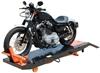Titan SDML-1000D Heavy Duty Motorcycle Lift Lowered