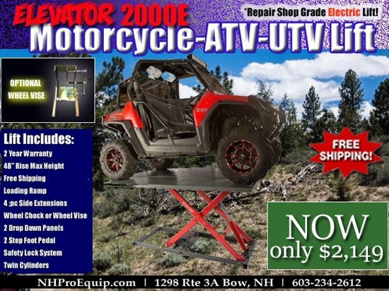 Picture of ELEVATOR 2000E REPAIR SHOP GRADE MOTORCYCLE ATV UTV LIFT TABLE