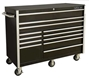 "rollcabs.com CRX552512RC 55"" 12 DRAWER BLACK ROLLING TOOL CABINET"