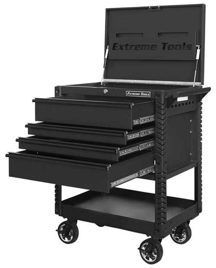black tool cart