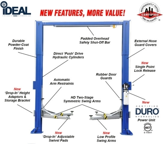 2 Post Lift iDeal TP12KSC-DX
