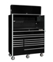 "Picture of 55"" X 25"" 12 Drawer Rolling Tool Cabinet + Top Hutch CRX55251201SET"