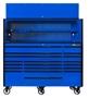 Blue Black Trim 72 inch tool box set