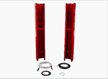 "Height Extension Kit allows height to be adjusted from 150-1/2"" to 174-1/2"""