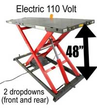 Elevator 2000E Professional Electric Motorcycle Lift Table
