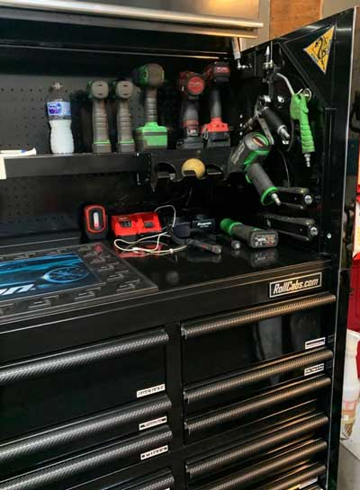 air tools in the tool box